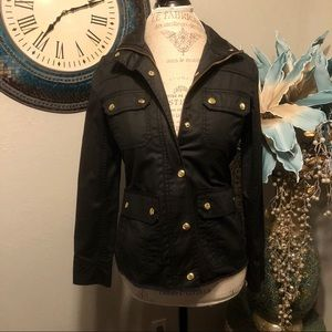 JCrew Black label jacket with gold hardware
